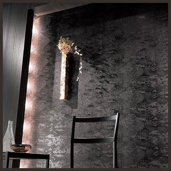 壁紙 のりなし クロス 国産壁紙 和風 和室 黒 ブラック モダン 柄 シック 防かび 壁紙 ...