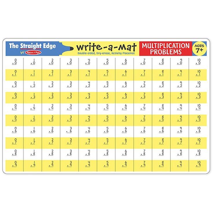 Learn multiplication with ease practicing on this Multiplication Write-on Learning Placemat by Melissa & Doug. Manufactured by Melissa & Doug.