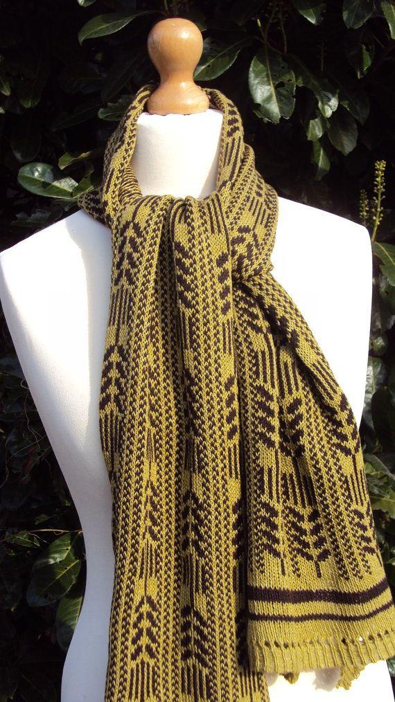 Kasjmier Fair Isle sjaal Brown kasjmier sjaal botanische