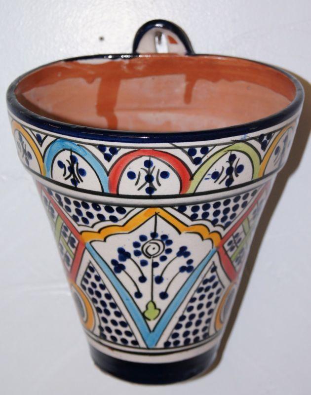 Perfect Ceramic Hanging Planter Moroccan