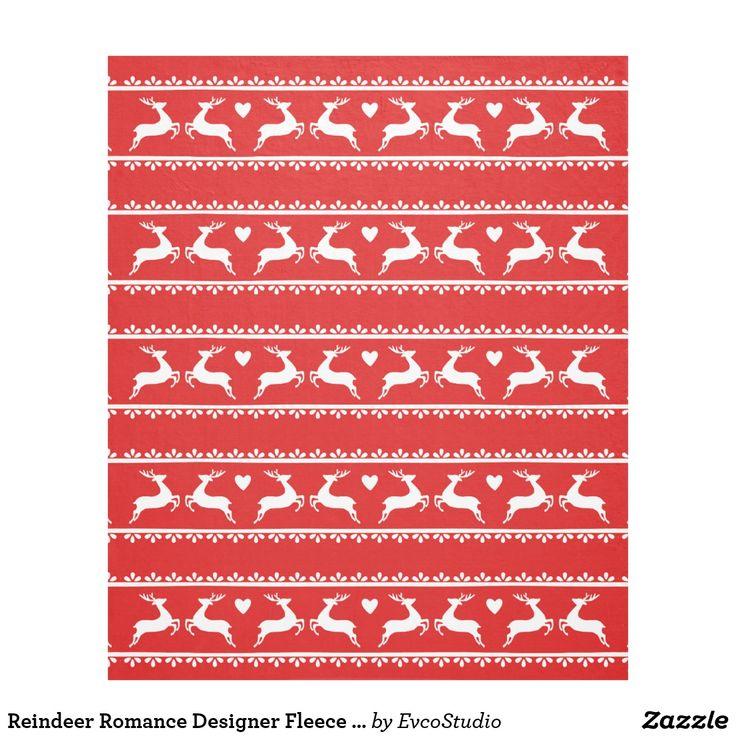Reindeer Romance Designer Fleece Blanket