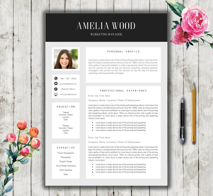 Resume Template 5 Page + Covering Letter   Ultra Modern Resume Template for Word   Modern Resume Template   Resume Word Download by RedFoxResumes on Etsy