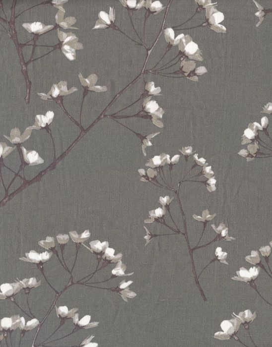 Blossom Grey Linen Fabric