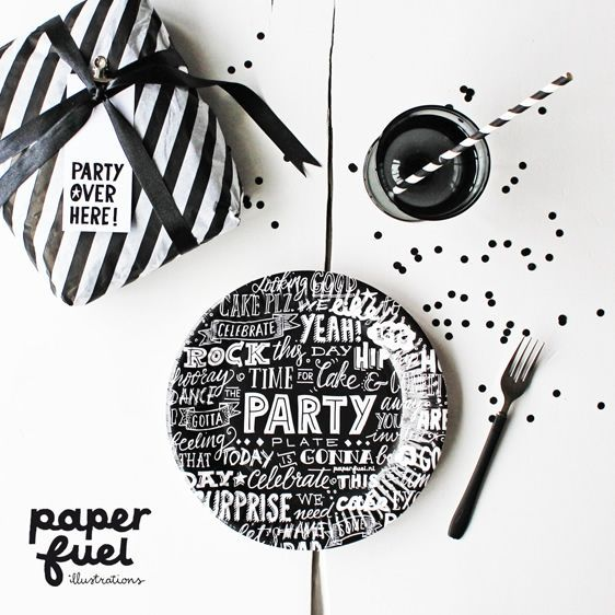 Papieren Borden Party - Paperfuel - Madame La Poule