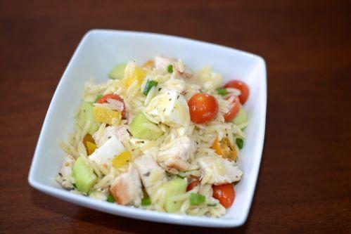 Salade d'Orzo au poulet grillé