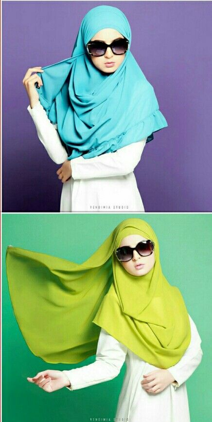 Blue and green hijab..... Photo @vendimiastudio