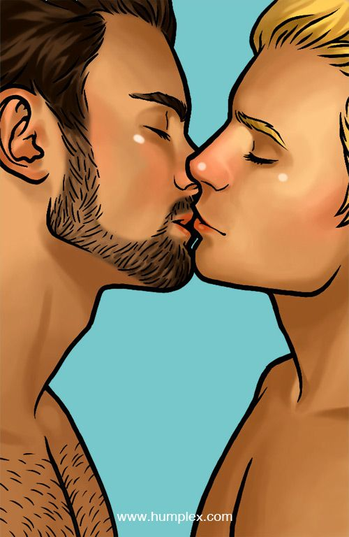 gay animated kiss