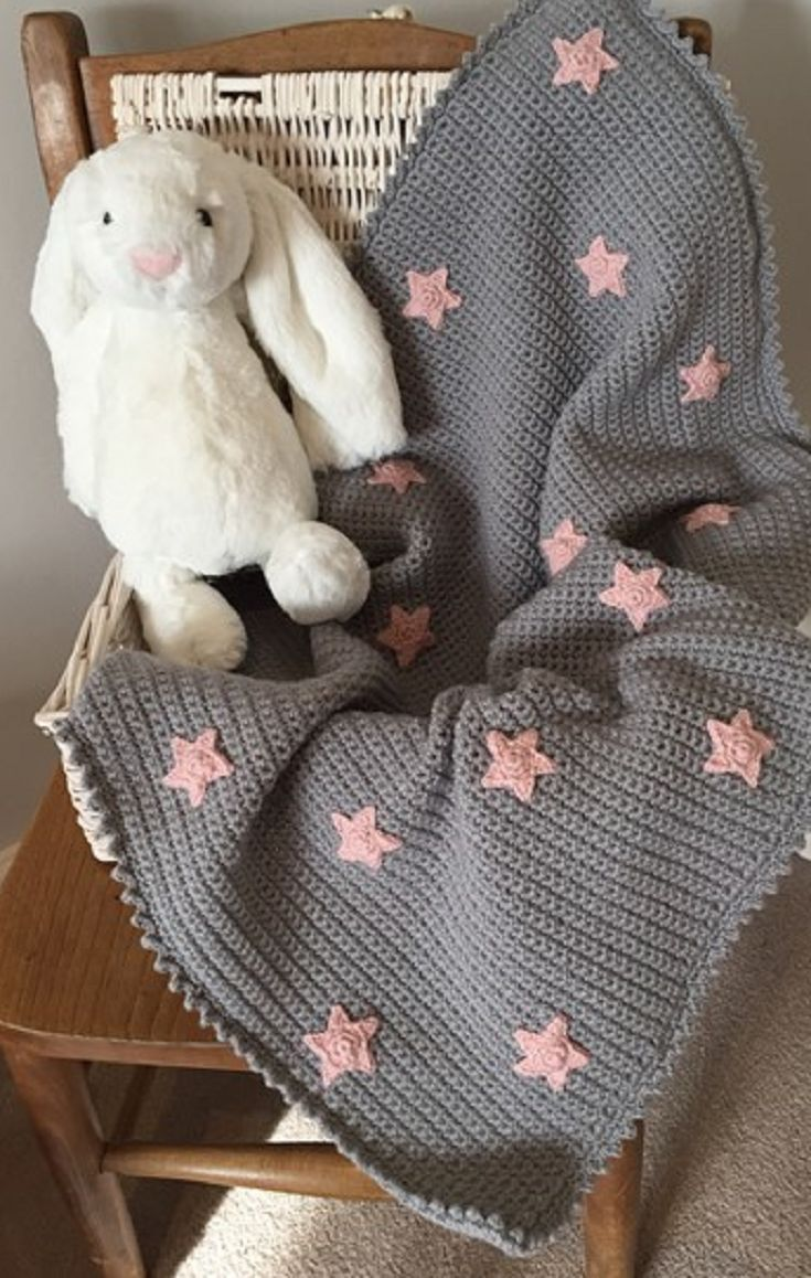 Crochet Pattern: Baby Star Blanket by Kate Eastwood