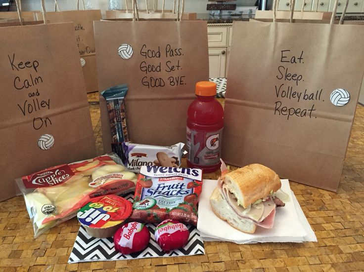 Volleyball snack bag