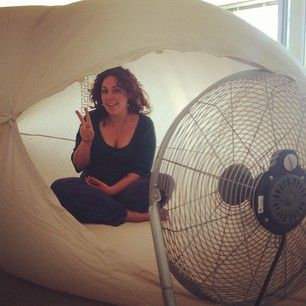 Start with the easiest and coolest (pun intended) pop-up fan fort to blow your heat troubles away. | 11 Ways To Cool Off Without A Pool