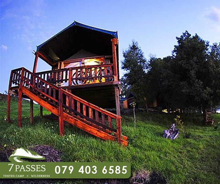 Experience an unique night in the outdoors with all the comfort of our luxurious tented units, while enjoying the #GardenRoute. For more information, call #7Passes on 079 403 6585. #Accomodation #GardenRoute