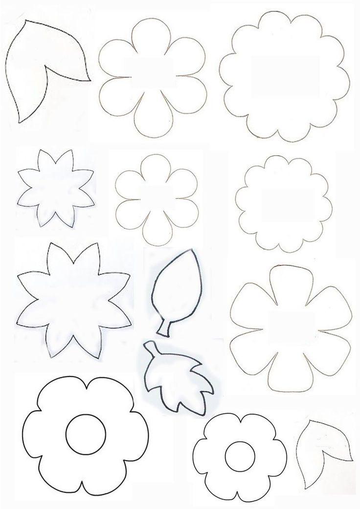 Шаблоны для открытки цветы и листья