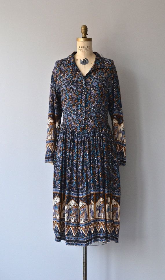 Bandipur dress 70s indian cotton dress vintage by DearGolden