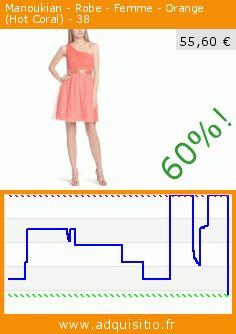 Manoukian - Robe - Femme - Orange (Hot Coral) - 38 (Vêtements). Réduction de 60%! Prix actuel 55,60 €, l'ancien prix était de 139,00 €. http://www.adquisitio.fr/manoukian/robe-femme-orange-hot-4