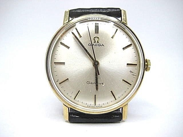 OMEGA Geneve Vintage Mechanical Movement Yellow Gold 9Carat. Gent Used Watch.