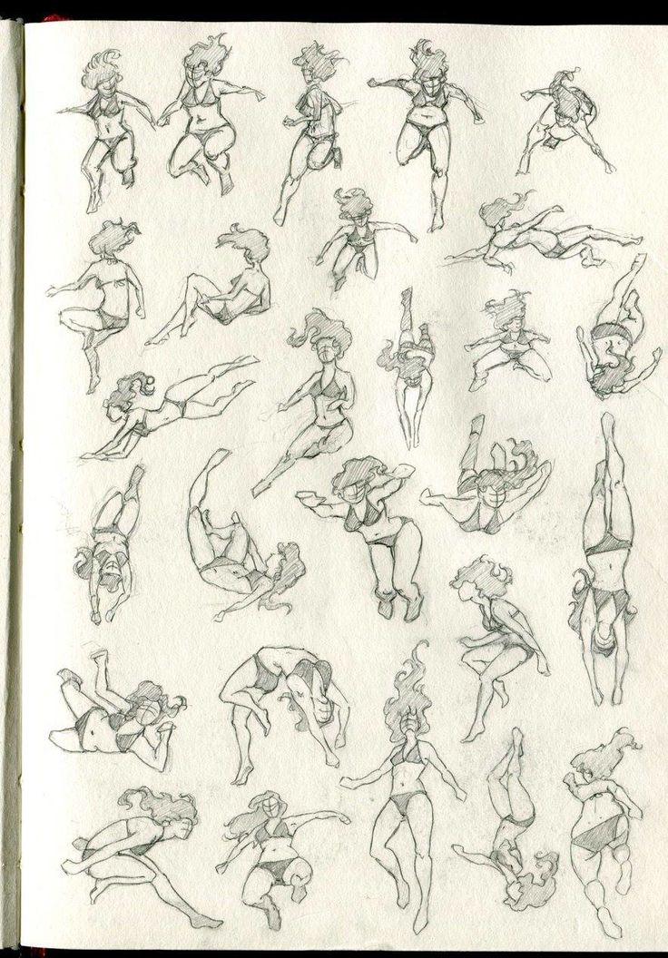 ArtStation - swimming poses, Zora Kastner