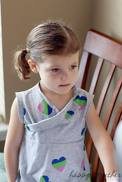 Adorable re-make for a kid's t-shirt. I'm so doing this one today!