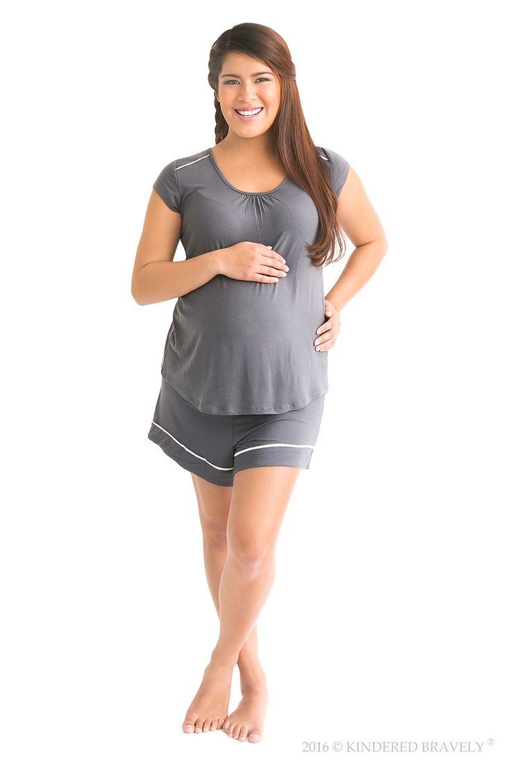 The Amelia Nursing & Maternity Pajamas (Short Set)
