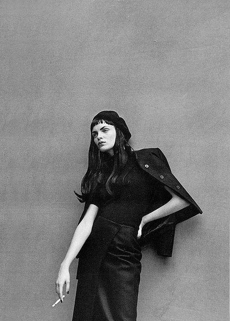 Esther Cañadas by Peter Lindbergh for Vogue Italia