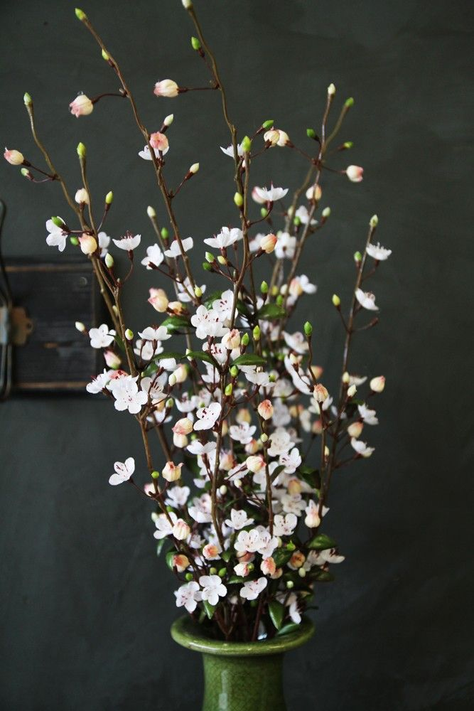 Faux White Blush Blossom From Rockett St George