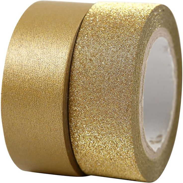 Washitape - 2-pack - Guld/Glitter