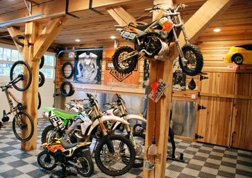 Dirt Bike Garage and Shed Design Ideas, Pictures, Remodel and Decor