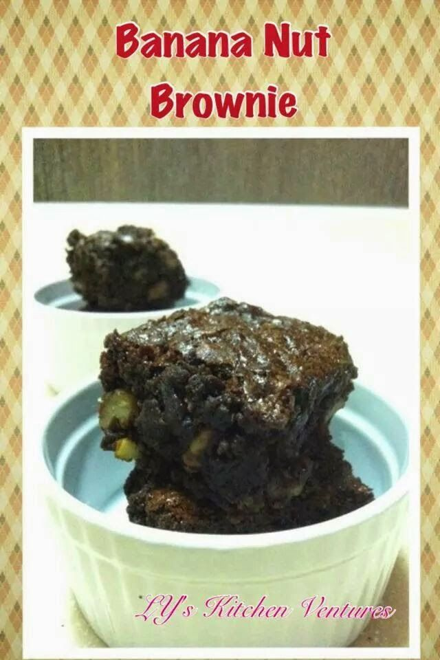 LY's Kitchen Ventures: Banana Nut Brownies