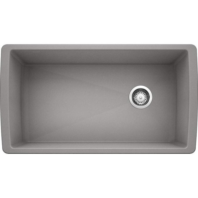 Blanco Diamond Undermount 32 5 In X 18 5 In Metallic Gray Single Bowl Kitchen Sink Lowes Com Undermount Kitchen Sinks Single Bowl Kitchen Sink Kitchen Sink