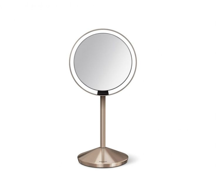 Our sensor mirror lights up automatically. Its tru-lux light system simulates natural sunlight, allowing you to see full color variation, so you'll know when your makeup is color-correct and flawless. And unlike traditional makeup vanity mirrors' bulb lighting, our long-lasting LEDs won't burn out or diminish. The mirror folds down flat and stores easily in its travel case. Recharges with a standard USB port (cable included), and one charge lasts up to 5 weeks. 10x magnification —...