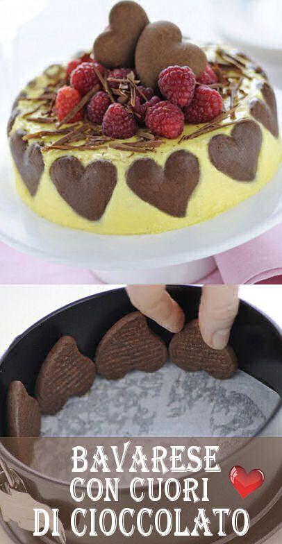 Bavarese con cuori di cioccolato