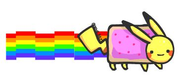 Pikachu - Nyan cat by mnrART