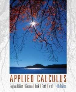 Applied calculus 4th edition michigan state university: hughes.