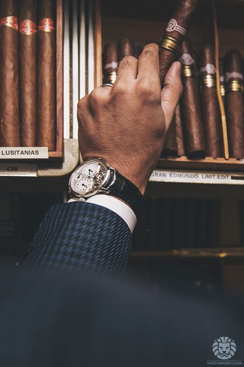 Arnold & Son DBS x Cigars from Sautter on Mount Street.