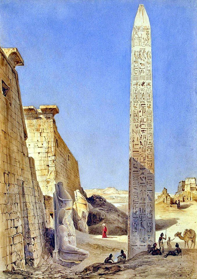 luxor temple in thebes - 1835 by pierron charles