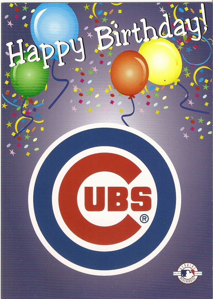 Chicago Cubs Happy Birthday Greeting Card