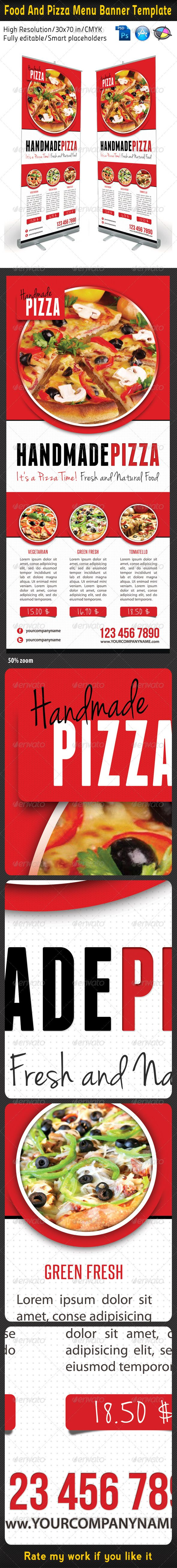 images about print ad chinese restaurant food and pizza menu banner template 01