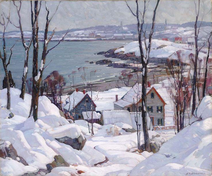 Aldro Thompson Hibbard (American, 1886-1972), Rockport in Winter, c. 1940. Oil on canvas, Smithsonian American Art Museum, Washington, D.C.