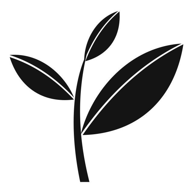 Tea Leaf Sprout Icon Simple Style Tea Leaves Simple Style Tree Icon
