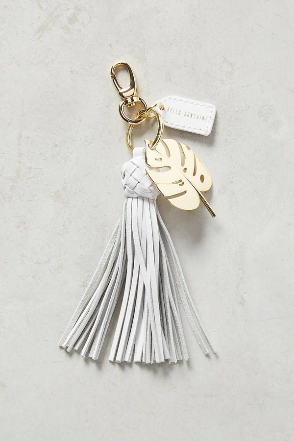 Anthropologie Resort Tassel Keychain