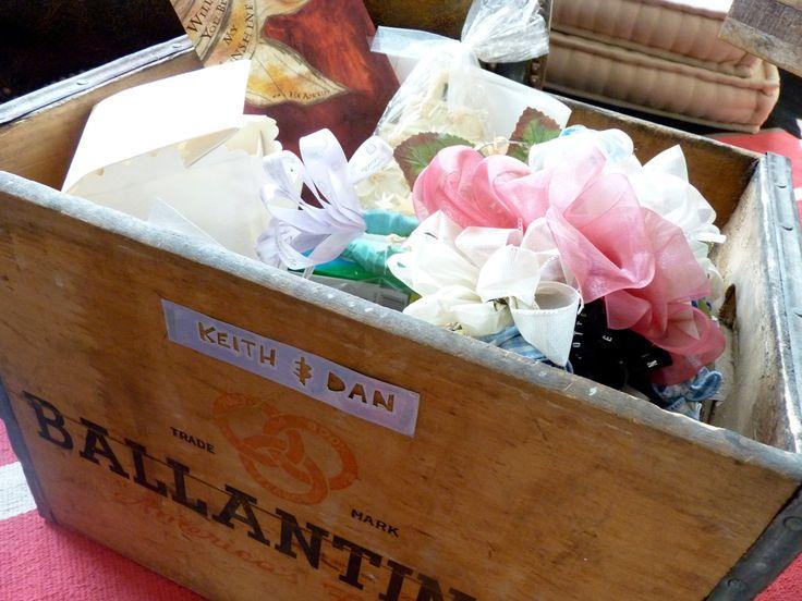 A big wooden box lets you store wedding memorabilia big and small.