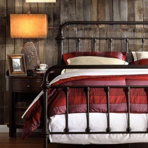 antique finish dark bronze queensize metal bed this victorian brass bed style frame