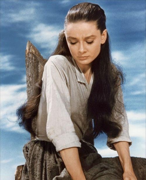 "Audrey Hepburn en ""Los Que No Perdonan"" (The Unforgiven), 1960"