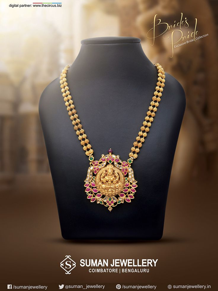 Switch to your #vivacious side with this #splendid & #divine piece of #gold #jewellery from Suman jewellery. #sumanjewellery #brides_pride #necklace #collections