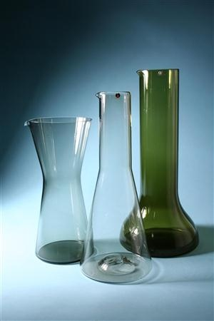 Jugs, Designed by Kaj Franck, Tapio Wirkkala and Timo Sarpaneva for Iittala, Finland.