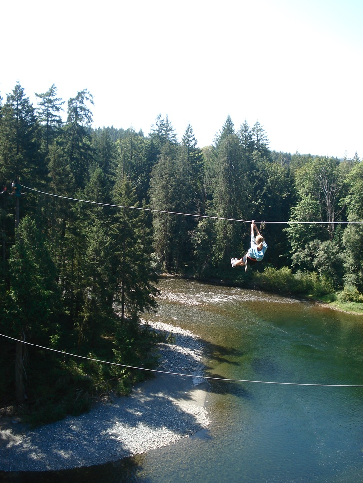 Wildplay Element Parks in Nanaimo, British Columbia - Zip lining over a huge canyon = One of the most fun places I have ever been :)