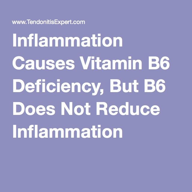 Inflammation Causes Vitamin B6 Deficiency, But B6 Does Not Reduce Inflammation