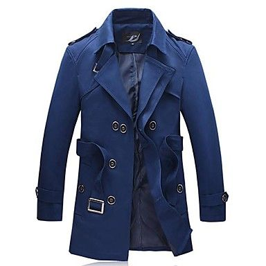 [XmasSale]Men's Lapel in The Long Trench Coat – USD $ 62.99