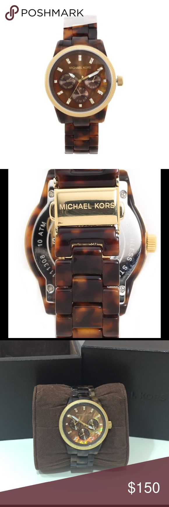 Michael Kors Tortoise Watch Perfect condition - worn once Michael Kors Tortoise Watch Michael Kors Accessories Watches