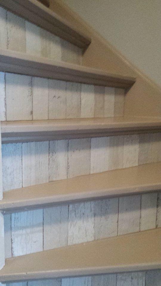 Trap decoratie met plakfolie idee n voor het huis pinterest - Decoratie montee d trap ...