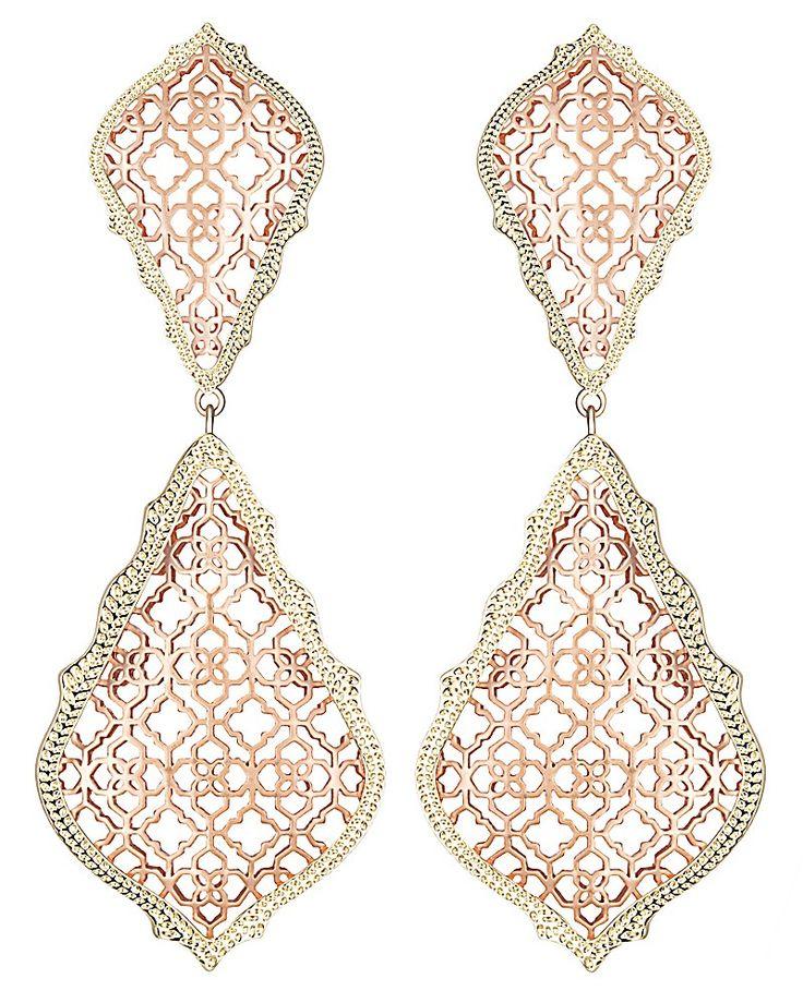 Adela Earrings in Rose Gold- Kendra Scott Jewelry.
